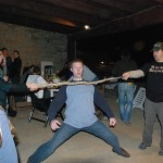 Dave showing off his limbo skills