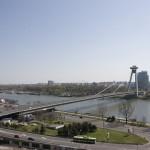 "The Novy Most (""New Bridge"") in Bratislava"