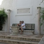 Taking a break inside the King's vacation home (the Alcazar)