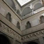 An indoor courtyard in the Alcazar