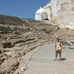Scott in the Roman amphitheatre that is still being excavated