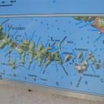 Map of the islands around Hvar