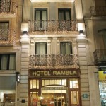 Our hotel in the center of Figueres, Spain