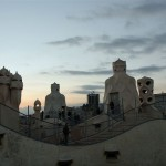 On the wavy roof of Casa Mila