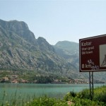 "Driving along the ""sidewalk"" to Kotor"