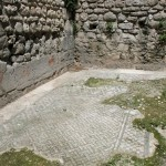 A really really old mosiac floor that pre-dates the palace