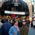 Karie & Donna outside La Bouqueria