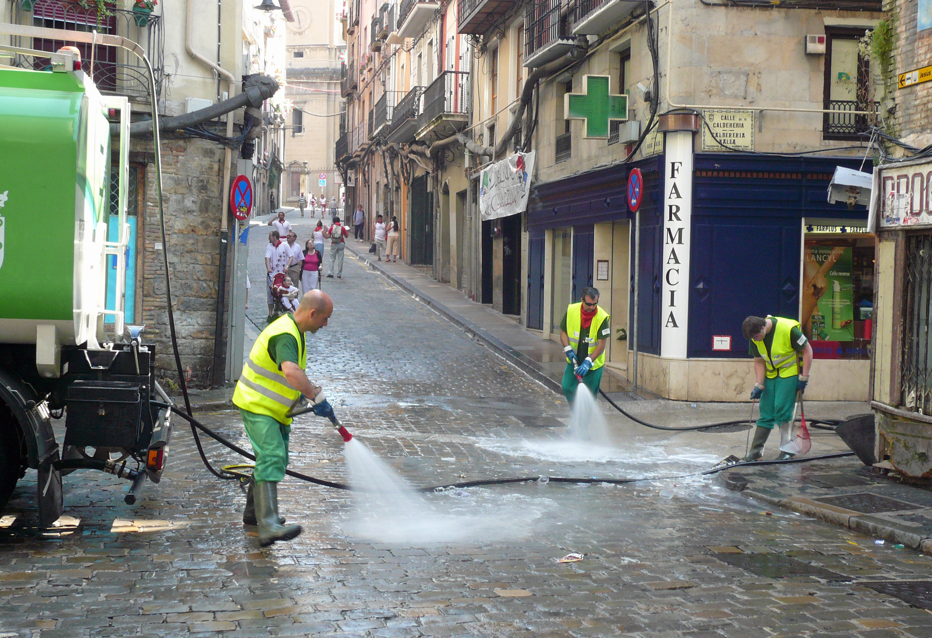 People Cleaning The Streets Cleaning The Streets