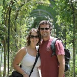 In the Generalife gardens at the Alhambra