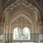 Looking through the hallways of the Nasrid Palace