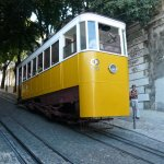 One of the many trams in Lisbon