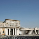 Piazza San Pietro, with the Pope's home above