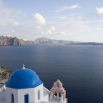 A typical view in Santorini