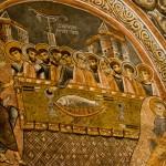 A fresco of the Last Supper in the Dark Church