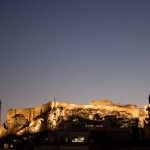 View of the Acropolis from our hotel