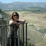 Karie overlooking the beautiful valley