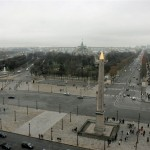 The Concorde with its Egypitian Obelisk, and the Eiffel Tower in the distance