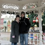The park was beautifully decorated for Christmas
