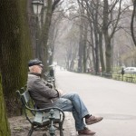 A Polish man enjoying the not-too-miserable day in the park