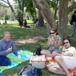 Having a picnic lunch in Park Ciutadella