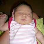 The newest addition to the Jones family, Alison Grace