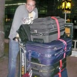 Here's all Karie's bags. I wonder what Scott is going to wear all year? (kidding! we were 50/50!)