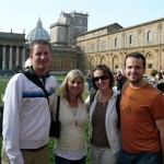 In one of the Vatican City courtyards