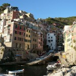 Riomaggiore. Our apartment was straight up the hill.