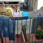 We dry our laundry outside!