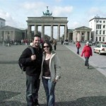 In front of Brandenburg Gate