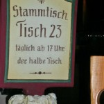 """Stammtisch - a sign indicating that this table is for """"the regulars"""""""
