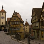 Inside the walled village of Rothenburg ob der Tauber