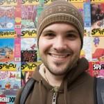Scott in the Comic Strip Museum