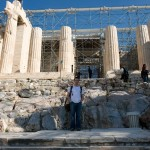 Scott in front of the Temple of Athena Nike (Acropolis)