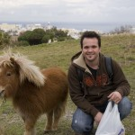 Scott with a minature horse