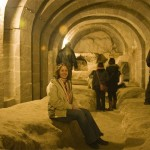 Karie in the missionary school inside the underground city